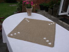 Shabby Chic,Vintage,Christmas Hessian Party/Wedding Centre Piece/Table mat