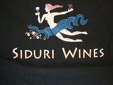 Siduri Wines Drinks Wine Sexy Pinup Girl Black Cotton T Shirt Size XL