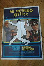 ADRIANO CELENTANO AMANDA LEAR ZIO ADOLFO IN ARTE FUHRER 1978 POSTER ORIGINAL