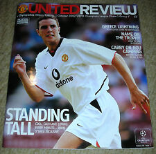 Manchester United vs Olympiakos - Champions League Game Program - 1-Oct-02
