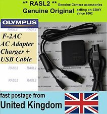 Genuine Olympus F-2AC charger + USB Cable FE-4050 FE-5035 FE-5040 FE-5050 T-100