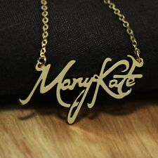 Personalized Name Plates Necklace Monogram Script Font Birthday Special gift