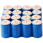 16x Ni-Mh 4/5 SubC Sub C 1.2V 2800mAh Rechargeable Battery with Tab Blue