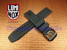 LUMINOX Rubber Band EVO Watch Strap 3050 3950 23mm Colormark Navy Seal Black I