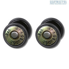 2 STÜCK BULLET FAKEPLUG - Fake Piercing Picture Plug Ohrstecker - 2 Pieces