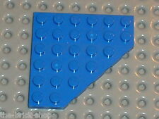 Plaque d'angle LEGO blue plate with corner 6106 / set 4192 7593