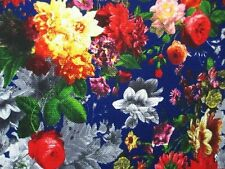 2 YARDS STRETCH FUKURO DOUBLE KNIT FABRIC GORGEOUS FLORAL PRINT