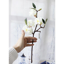 White Artificial Fake Cherry Blossom Silk Flower Bridal Hydrangea Home Decor