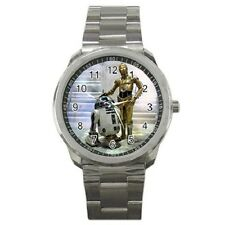 Gift Watch - Star Wars R2D2 and C3PO Sport Metal Watch Free Shipping