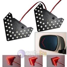 2x Red 33-SMD Sequential LED Arrows Panel for Car Side Mirror Turn Signal Lights