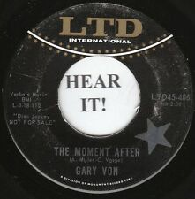 Gary Von NORTHERN SOUL 45 (LTD 406 PROMO) The Moment After/Can You Tell Me  VG++