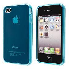 Silikon TPU Case Cover Schale Handy-Tasche Schutz-Hülle für iPhone 4 4S blau