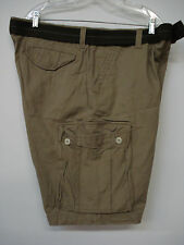 "NWOT  Men's Famous Maker Belted Cargo Shorts Size 40""x 10"" Tan #20M"