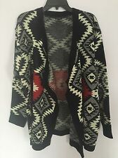 New Luxe Plus Size Open Front Cardigan Navy Red Sweater Sz 1x/2x