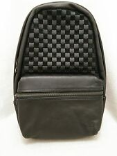 NEW VANS Calico Plus Check Checker Black leather Suede Backpack Skate Bag Sports