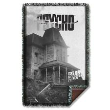 "Psycho Horror Movie House Licensed Woven Throw Blanket 36"" X 60"""