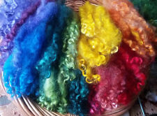 CHOOSE COLOR wool locks 1 oz. separated dyed curls doll making felting spinning
