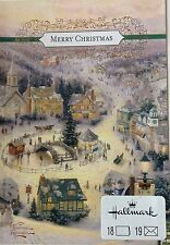 Hallmark Thomas Kinkade Merry Christmas Cards Box of 18 Winter Scene Kincade