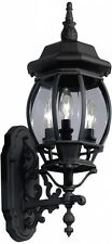 Outdoor Wall Light Lantern Black Traditional Fixture Exterior Sconce Patio