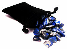 SHARING STONES - 2oz (60-75) LAPIS LAZULI  XS Tumbled Crystals with Pouch & Card