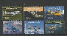 NEW ZEALAND 2001 AIRCRAFT SG,2408-2413 U/MM NH LOT 1377A