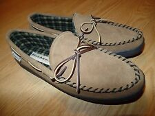 Men's Hideaways by L.E. Evans Brown Suede Slippers US10MSz very CLEAN Nice shape