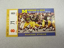 Michigan vs. UCLA 1971 Football Ticket Stub