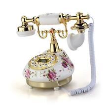 Ceramic Home Desk Telephone Phone Retro Vintage Antique Classic Style Floral