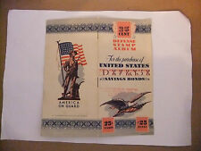 Vintage 1940's U.S. Government Defense America on Guard $0.25 Cent Stamp Album