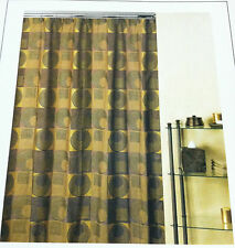 Creative Bath Products Fabric Shower Curtain Urban Chic Gold Color Modern