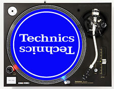 TECHNICS MIRROR WHITE ON BLUE - DJ SLIPMATS (1 PAIR) 1200's or any turntable