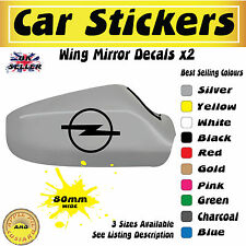Opel Z Mirror Stickers Decals 80mm Free UK Postage