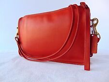 Vintage Coach Basic Bag Cross Body/Clutch Red Leather Made in NYC, USA #066-7746