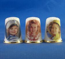 Birchcroft Thimbles -- Set of Three -- Shirley Temple Film Characters