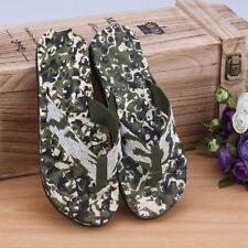 Summer Camouflage Mens Flip Flops Sandals Slipper indoor & outdoor Shoes US 10