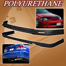 FOR 96-98 CIVIC 2DR 4DR T-M URETHANE PU FRONT REAR BUMPER LIP SPOILER BODY KIT