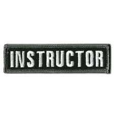 INSTRUCTOR TACTICAL MILITARY MORALE SWAT BLACK BADGE EMBROIDERED PATCH