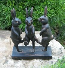 Dancing Bunny Rabbit s STATUE*Primitive/French Country Garden Room Cottage Decor