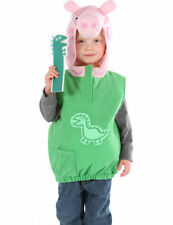 GEORGE DINO  PEPPA PIG FANCY DRESS COSTUME 2/4 YEARS PLUSH BOOK WEEK BROTHER