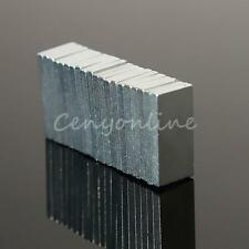 20 MAGNETI NEODIMIO 10x5x1mm CALAMITA POTENTE FIMO CERAMICA MAGNETE CALAMITE N42