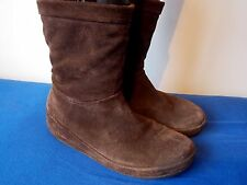 """CHOCOLATE BROWN """"FITFLOP"""" ANKLE BOOTS MicroWOBBLEBOARD UK Size 8"""