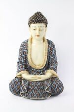 Feng Shui Blue/Red Kasaya Buddha Dhyani Mudra Home Decor Peace Statues