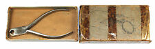 Antique Pocket Watch Hunting And Cap Case Hinge Pliers Watchmakers Tool w/ Boxl