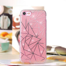 TPU Glitter Bling Crystal Sparkling Hard Back Case Cover for iPhone 6S 7 Plus