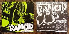 RANCID Honor Is All We Know 2014 Ltd Ed RARE Sticker +FREE Punk Rock Stickers!