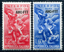 AMG-FTT - 1954 - INTERPOL Sassone nn.207/208 - gomma integra - MNH
