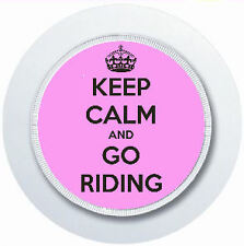 KEEP CALM AND GO RIDING HORSE LOVER PINK CAR TAX DISC HOLDER REUSABLE