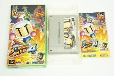 Super Bomberman 4 SNES HUDSON Nintendo Super Famicom Box Japan USED