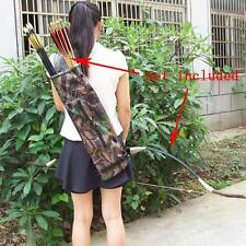 Camo Archery Hunting Bow ARROW BACK /SIDE QUIVER Holder Bag With Zipper Pocket