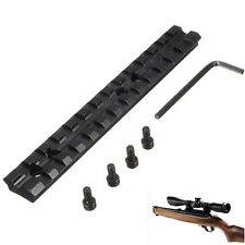 "Black 5.5"" 20mm 13 Slots Connection Strap Rail Scope Mount for Picatinny Weaver"